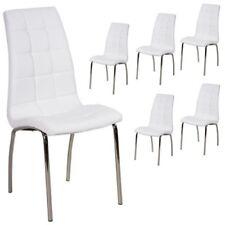 Stuhl Esszimmerstuhl Stühle Kunstleder Weiss Küchenstuhl Polsterstuhl Vierbein