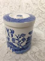 Vintage, Rare,  Ucagco,  Blue Willow, 2-pc Tea or Coffee Jar  4.5in T x 3.5in D