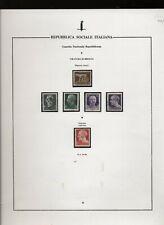 Repubblica Sociale GNR lotto di varietà usati, integri e linguellati  N2154