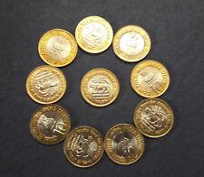 10 RUPEE COMMEMORATIVE RBI PLATINUM JUBILEE 10 COINS UNC