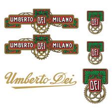 stickers adesivi UMBERTO DEI per bici vintage