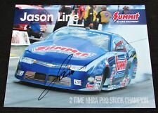 Jason Line Summit Racing Equipment Pro Stock NHRA Autographed HANDOUT/POSTCARD