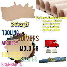 26 sqft DRUM DYED NATURAL VEG TAN LEATHER FULL GRAIN GRADE A -Select your size-