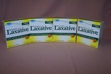(4) LAXATIVE BISACODYL 5 MG. 25 TABLETS NEW 4 BOXES!! *COMPARE TO NAME BRAND*