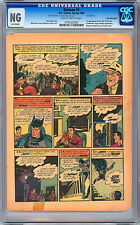BATMAN #1 CGC 0.0 -NG- 4TH PAGE ONLY *ORIG 1ST PRINT ISSUE OF BATMAN #1* 1940
