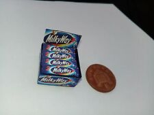 1/12 Scale - Box of Milky Ways Sweets for Dollshouse Miniatures display