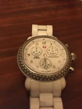 Michele CSX White Ceramic Diamond Bezel -  Chrono Dial, Ref# MWW03N000001 !!!