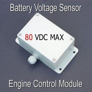 48V Battery Voltage Sensor Controller with programmable engine run timer