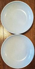 """2 Boontonware 3308 mint green speckled cereal/soup bowls 7-11/16"""""""