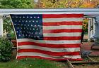 Magnificent 8 x 12 ft Original 45 Star US Flag 1896-1908 Wool Linen OG Frederick