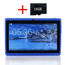 "Blu 7"" Pollici A33 8GB Android 4.4 Quad Core Bambini Touch Tablet PC + 16GB"