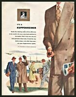 1948 KUPPENHEIMER Double Breasted Men's Suit Vintage Fashion Clothing PRINT AD