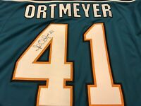 Jed Ortmeyer SIGNED Authentic Game Jersey Sewn San Jose Sharks AUTOGRAPHED RARE