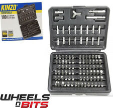 KENZO 100PC CHROME VANADIUM SCREWDRIVER SECURITY TORX HEX TAMPERPROOF BIT SET