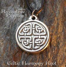 Celtic Harmony Knot (Small) - Pewter Pendant - Balance, Knotwork Jewelry