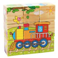 6 Sides Wooden 3D Puzzle Blocks Baby Kid Child Early Educational Jigsaw Toy Gift