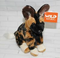 "Wild Republic AFRICAN WILD DOG 8"" Plush Cuddlekins Sitting Stuffed Animal NEW"