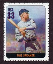 UNITED STATES, SCOTT # 3408-L, SINGLE STAMP OF TRIS SPEAKER, BASEBALL LEGEND,MNH