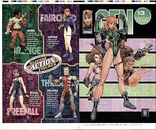 J. SCOTT CAMPBELL GEN 13 TF SPECIAL #1 ORIGINAL PRODUCTION ART COMIC COVER PROOF