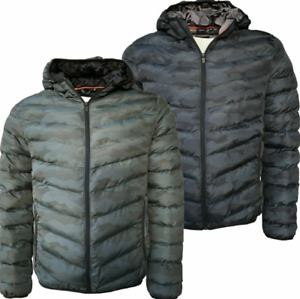 Mens Project King Bubble Jacket Hoodie Warm Padded Coat Camouflage Casual Gym