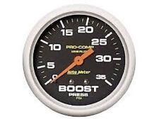 Auto Meter 5404 Pro-Comp Liquid-Filled Mechanical Boost Gauge 2 5/8 in.