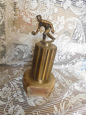 Vintage Bowling Trophy mid-century Bronze Topper Classic Retro ~ FREE SHIPPING~