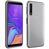 Silicone case, Glossy & matte back cover for Galaxy A7 2018 – Frosted white
