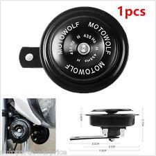 1pcs Black DC 12V 110db Motorcycle Loud Tone Snail Electric Air Horn Waterproof