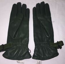 OLIVE GREEN MK2 LEATHER COMBAT GLOVES - Size: 8 , British Army Issue