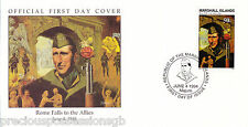 W73 1-1 MARSHALL ISLANDS FDC COVER 1994 ROME FALLS TO THE ALLIES 1944