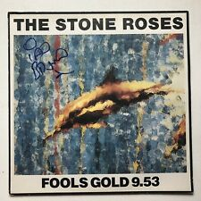 HAND SIGNED FOOL'S GOLD ORIGINAL RECORD AUTOGRAPHED THE STONE ROSES IAN BROWN