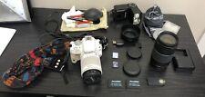 Canon EOS Rebel SL1 18.0MP DSLR White w/ 18-55mm STM Canon zoom lens EF 75-300mm
