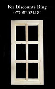 6 Pane Georgian Style Window for Sheds and Summerhouses