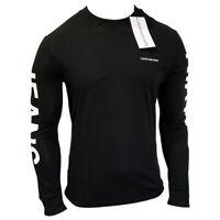 NWT CALVIN KLEIN AUTHENTIC MEN'S BLACK CREW NECK LONG SLEEVE T-SHIRT SIZE XL