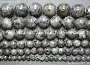 Natural Larvikite Labradorite Gemstone Round Beads 16'' 4mm 6mm 8mm 10mm 12mm