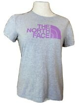 The North Face Womens T-Shirt Size Small Classic Fit Gray Pink Cotton
