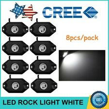 8pcs White 9W CREE LED Rock Light for JEEP Offroad Truck Under Trail Rig Light