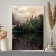 Autumn Winter Tree Fog Home Print Poster Painting Wall Art Christmas Gift A4- A1