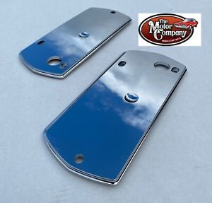"1969 1970 Buick Skylark 4 Door Chrome Armrest Bezel Backing Plate Set ""New Mold"""