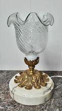 LAMPE EN BRONZE ET MARBRE (1)