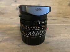 Leica Summicron-M 35mm F/2 ASPH. 11879 Black Camera Lens