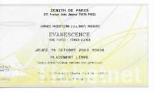 RARE / TICKET BILLET DE CONCERT - EVANESCENCE : LIVE A PARIS ( FRANCE ) 2003