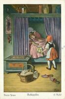 Artist impression C-1910 Red Riding Hood Grimm Fairy Tale Postcard 11202