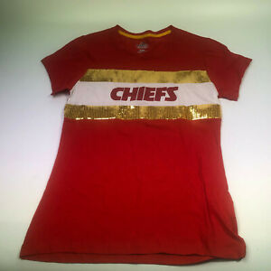 KANSAS CITY CHIEFS NFL T-Shirt, youth/junior size M, pre-owned Majestic, READ