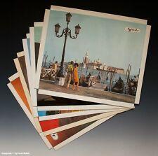Konvolut 5 x Agfacolor Reklame Aufsteller Urlaubsmotive um 1970-1971