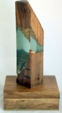 Handmade Epoxy Resin Lamp With Gold leaf Work Premium wooden Box Best Gift item