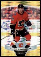 2019-20 OPC Platinum Seismic Gold #102 Elias Lindholm /50 - Calgary Flames