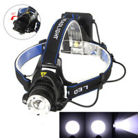 Zoomable 6000LM XM-L T6 LED Headlamp Head Light Torch Headlight Fishing Lamp