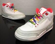 """2010 Nike Air Jordan Retro 3 III """"Rainbow"""" Size 6.5Y Size 8W (441140-101)"""