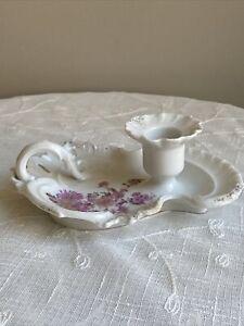 RARE Antique Furstenberg Germany Porcelain Chamberstick Candle Holder